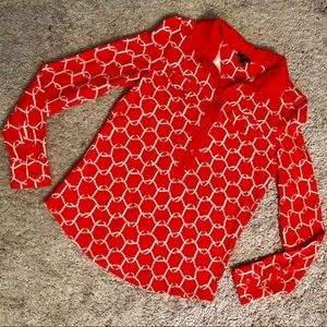 Red Talbots Long sleeve colored shirt